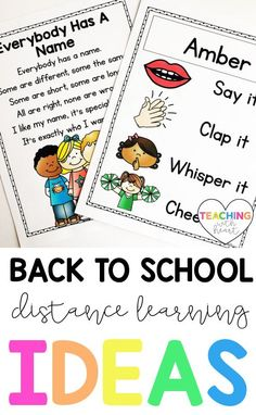 Looking for distance learning ideas for back to school? This blog post has ideas for building your classroom community during distance learning. Use the ideas for back to school, and revisit them throughout the year to keep your classroom community strong. Teacher Blogs, New Teachers, Elementary Teacher, Teacher Resources, Back To School Activities, School Ideas, Classroom Icebreakers, Classroom Community, Beginning Of The School Year