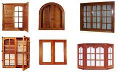 Ventanas de madera modernas - Imagui Wooden Window Design, Wooden Windows, Door Design, House Design, House Windows, Windows And Doors, Cabana, Ikea Bodbyn Kitchen, Tiny Furniture