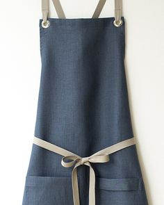 New slate-blue Kitchen Apron - up and running at Studiopatro.com.