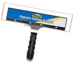 there is a new product out that can make this job much easier.The tool is the Homax 6100 Ceiling Texture Scraper.This scraper is very wide making the job go faster but better yet it has a bag that attaches. to it that actually catches most of the material that would be falling onto the floor. Read More: http://removeandreplace.com/2013/03/06/how-to-remove-popcorn-texture-from-ceiling-that-has-been-painted-step-by-step-diy/#ixzz3oab0A5A0