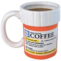 Prescription Mug Pill Bottle coffee Cup Pharmacy 12 oz. Rx - Big Mouth Toys