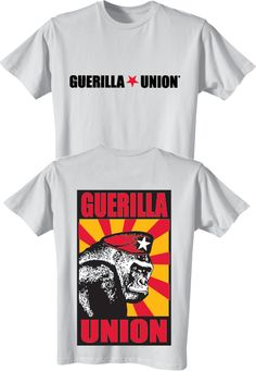 Guerilla Union Official Online Store - Mens GU Banzai White T-Shirt [Red Print], $20.00 (http://www.guerillaunionstore.com/copy-of-gu-banzai-black-t-shirt/)