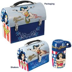 Wonder Woman Lunch Box Salt and Pepper Shakers - Vandor - Wonder Woman - Kitchenware at Entertainment Earth