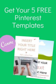 Get your five free Pinterest templates. Put your online content on Pinterest with these pins. Save time and use these free templates. Enjoy!  Online business tips | Pinterest marketing |  Kat Virtual Services