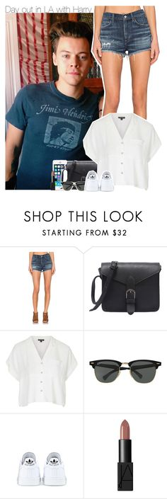 """""""Day out in LA with Harry"""" by perfectharry ❤ liked on Polyvore featuring FingerPrint Jewellry, AGOLDE, Topshop, Ray-Ban, adidas and NARS Cosmetics"""