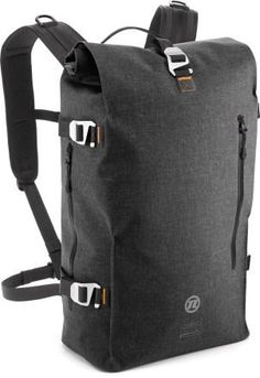 Novara Dutchtown Bike Backpack - REI.com. 100% waterproof and has a laptop sleeve. Self-healing zippers. Reflective stripe on bottom of bag.