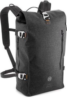 Novara Dutchtown Bike Backpack - REI.com. 100% waterproof and has a laptop sleeve. Self-healing zippers. Reflective stripe on bottom of bag.