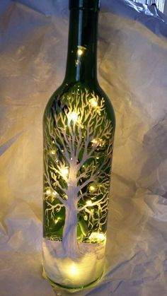 Empty Wine Bottle Crafts | An empty wine bottle and the recent ice storm in Michigan inspired me ...