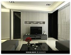 Classic black and white living room interior