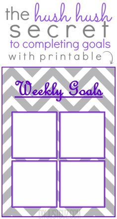The secret to reaching your goals is as simple as writing them down - Check out the printable to help you achieve all you've ever wanted @diyjustcuz