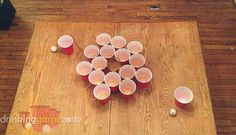 Slap Cup is a fast paced competitive drinking game where participants compete individually and try to bounce a pong ball into their cup as quickly as possible.