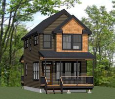 Two Story Tiny House Plan   Tiny House Cabins