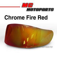 New color on MC Motoparts Online Store helmet visors. Helmet Visor, Visors, 1 Piece, Me Too Shoes, Chrome, Motorcycle, Store, Fitness, Red