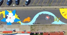 """""""Denver muralist Yulia Avgustinovich created the whimsical design concept that unites Stanley's prior historical operations as an ejection-seat manufacturer with Aurora and Colorado history and the growth and redevelopment happening in the area today,"""" says Aurora spokeswoman Julie Patterson."""