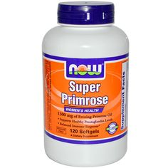 Now Foods, Super Primrose, Evening Primrose Oil, 120 Softgels PCOS, period pain. New to iHerb? Use coupon code NWB338 #PMS #PCOS