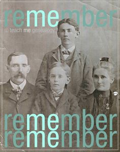 "Cries from our Ancestors; ""Remember Me"" ~ Teach Me Genealogy"