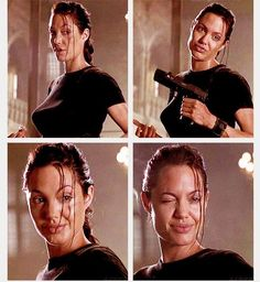 Badass Angelina Jolie #Lara Croft