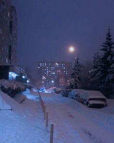 Dark Winter, Winter Snow, Aesthetic Backgrounds, Aesthetic Wallpapers, Russian Winter, Night Aesthetic, Purple Aesthetic, Dark Paradise, Snowy Day