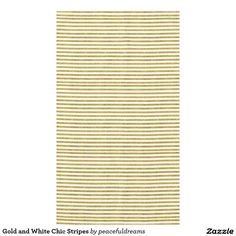 Gold and White Chic Stripes Tablecloth