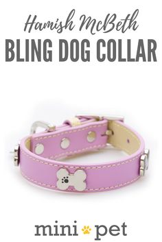 Soft pink bling dog collar with bones studs. Made from high quality super soft top grain real leather, this red bling dog collar has contrasting beige leather detail and stitching. The Bone studs are decorated with enamel paw design and protected with clear lacquer for extra protection.