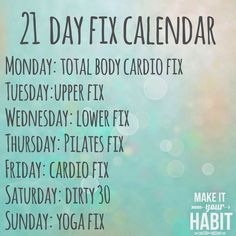 transformation tuesday: 21 day fix results
