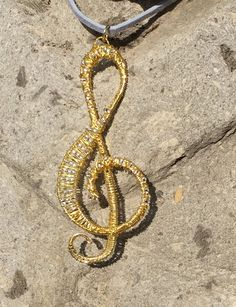 Items similar to Music Lover - Treble Clef Pendant on Etsy