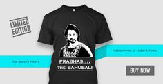 ALL THE FANS OF BAHUBALI PRABHAS, GRAB THIS TEE BEFORE THE SALE ENDS....