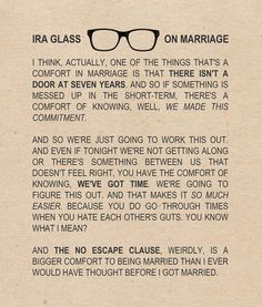 This is probably the truest thing that I have ever read about marriage - especially in your first year. I love this.