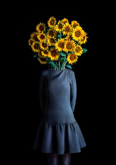 fashionably dressed flowers by miguel vallinas display their budding personalities
