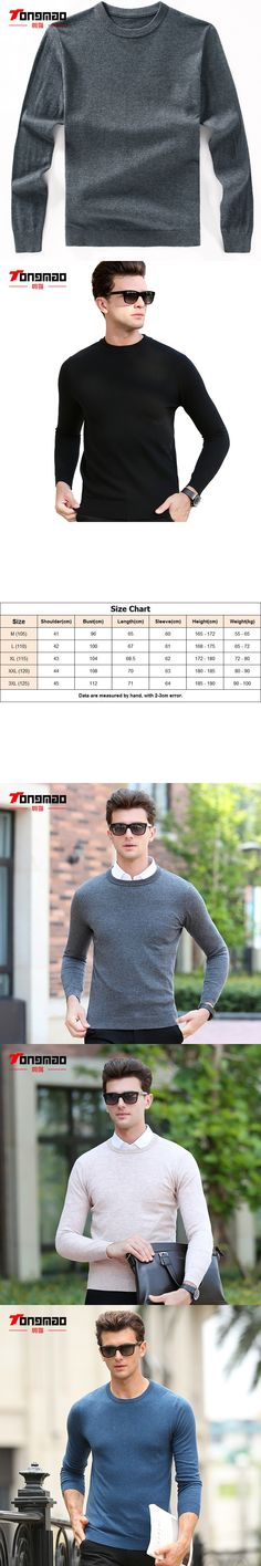 100% Pure Wool Mens Sweater Autumn Winter Fashion Solid Color O-Neck Slim Fit Men Pullover Knitwear Long Sleeve Warm Men Sweater