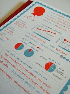 birth announcement infograph - Need to do this for Julia, it's AWESOME.  In a nerdy, engineer sort of way.