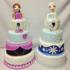 are you up for a challenge? Anna Frozen Cake, Anna Cake, Disney Frozen Cake, Frozen Theme Cake, Disney Cakes, Frozen Party, Cupcakes, Cake Cookies, Cupcake Cakes