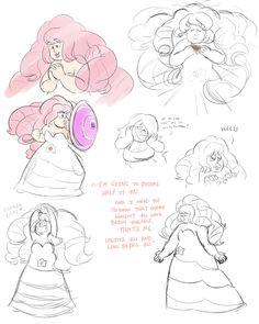 Rose Quartz doodles by LittleMissGamer.deviantart.com on @DeviantArt