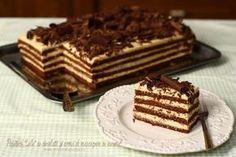 """Prăjitura """"Lulu"""" cu ciocolată și cremă de mascarpone și caramel Dessert Cake Recipes, Dessert Bread, Sweets Recipes, Romanian Desserts, Romanian Food, Salty Cake, Honey Recipes, Sweet Cakes, Ice Cream Recipes"""