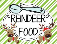 Adorable!! Reindeer Food {Letter From Santa} and {Bag Toppers}