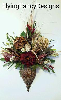 Exotic Double Feather Ball Wall Cone Designer Fl Arrangement Mounted Silk Flower Design Sconces Living Room Pinterest Flowers