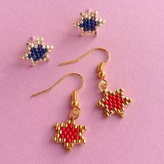 In this tutorial, find out how to make some pretty star shaped earrings from Miyuki Delicas!