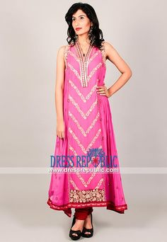 Pakistani/Indian Designer Eastern Outfits in Hot Pink