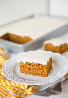 Pumpkin Spice Sheet Cake   Table for Two