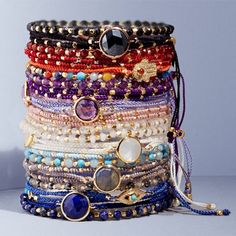 Summer starts with a Skinny #bracelet. The question is, which colour to get first? #braceletstack #gemstones