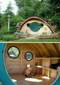 Nice Outdoor Play, Outdoor Living, Decoration Palette, Cubbies, Play Houses, Cabana, The Hobbit, Kids Playing, House Design