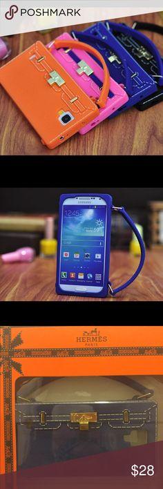 Birkin Bag design phone case Hermes Birkin Bag Design Samsung S4 case color royal blue  Accessories Phone Cases