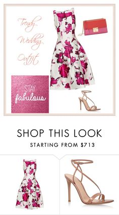 """Trendy Wedding Outfit"" by mariella-montanaro on Polyvore featuring Oscar de la Renta, Gianvito Rossi and Gucci"