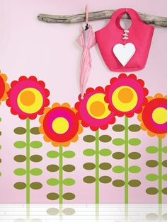 Happy Flowers Removable Wall Decals by WallCandy Arts on Gilt.com