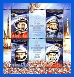 MOLDOVA. 50th Anniversary of the First Manned Space Flight - 2011. S/S MNH