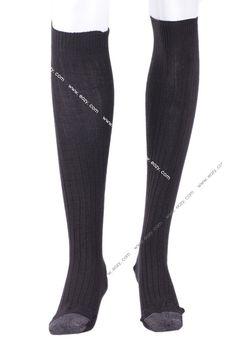 Navy Women Unisex Soft Warm Winter Cotton Blend High Sock Stockings