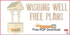 Wishing well plans, free PDF download.