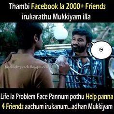 Facebook Punch Dialogues: Velai Illa Pattadhaari Tamil cinema Dhanush punch ...