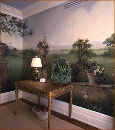 deep, calm, real, and loved by www.herrsuite.com // mural, home decor, painting, wall, hand-painted, landscape, wonder