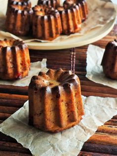 This is a non-traditional canelé with guava and cheese, but it still has the crunchy outside and more custard-like interior. French Patisserie, Pastry Art, Vanilla Custard, Yummy Food, Tasty, French Pastries, Dessert Recipes, Desserts, Delish